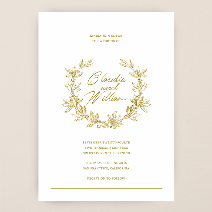 invitations golden inkspiredpress