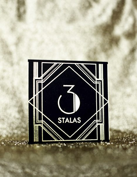 Table Numbers Art Deco